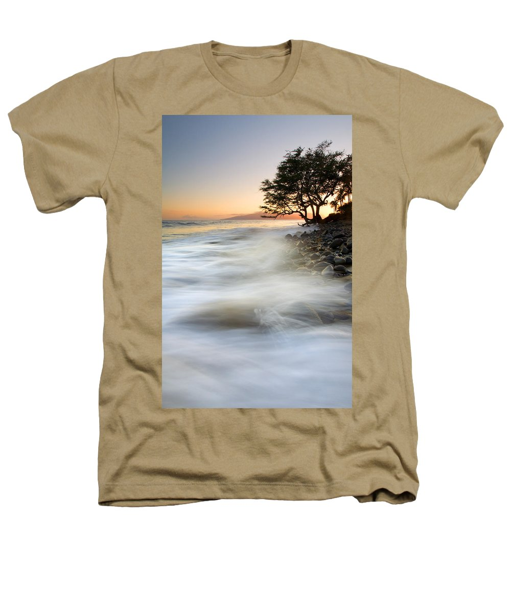Sunset Heathers T-Shirt featuring the photograph One Against The Tides by Mike Dawson