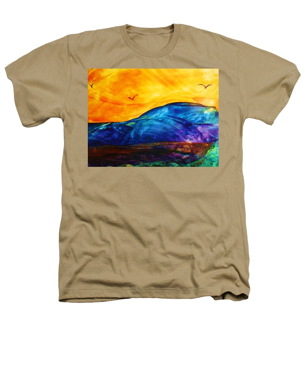 Landscape Heathers T-Shirt featuring the painting One Fine Day by Melinda Etzold