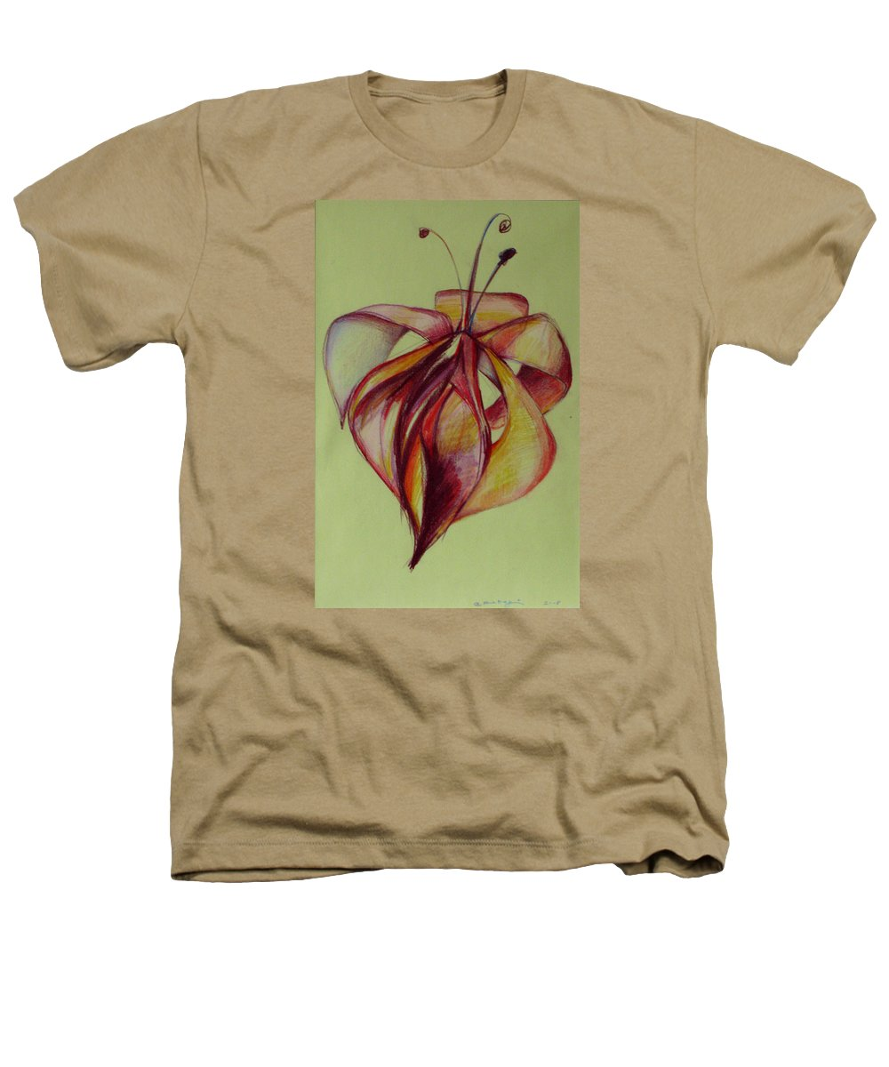 Flower Heathers T-Shirt featuring the painting One Flower by Cristina Rettegi