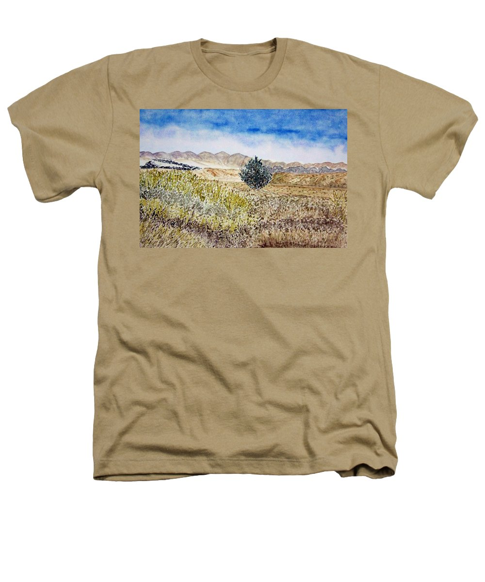 Desert Art Heathers T-Shirt featuring the painting Onyo National Forest by Larry Wright