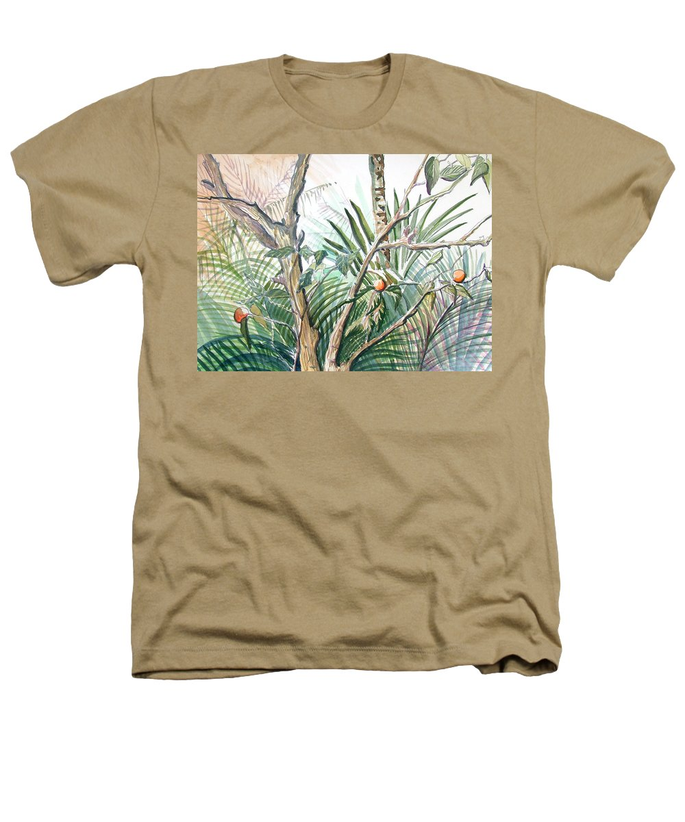 Fruit Heathers T-Shirt featuring the painting Orange Tree by Mindy Newman