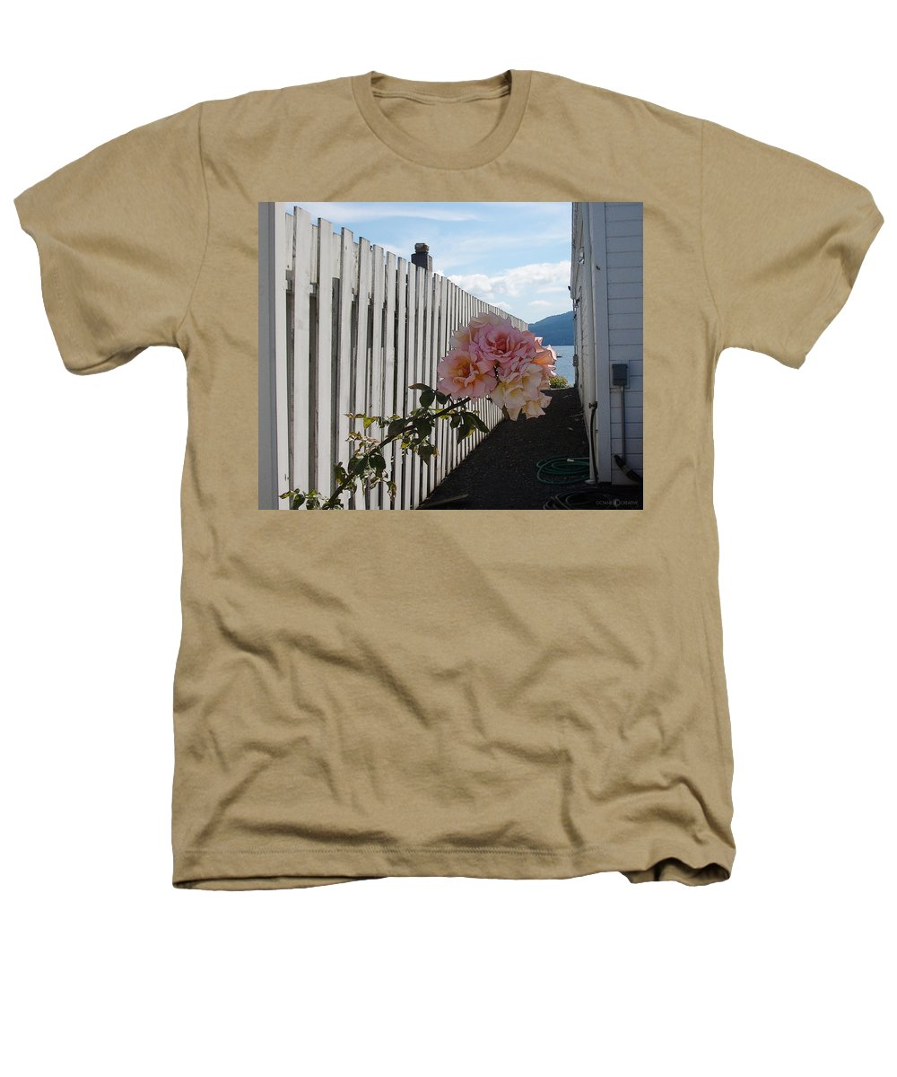 Rose Heathers T-Shirt featuring the photograph Orcas Island Rose by Tim Nyberg