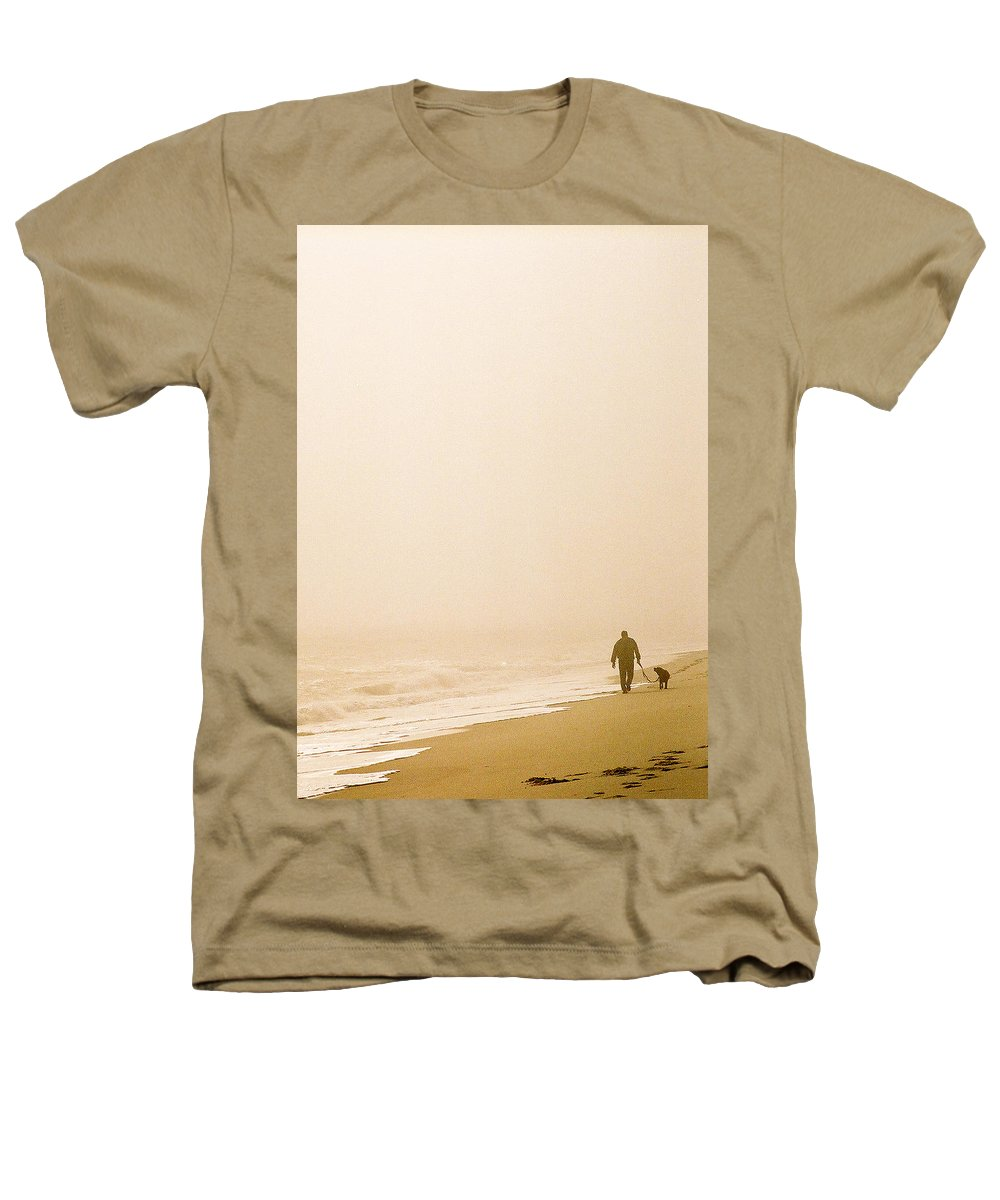 Landscape Heathers T-Shirt featuring the photograph Out Of The Mist by Steve Karol