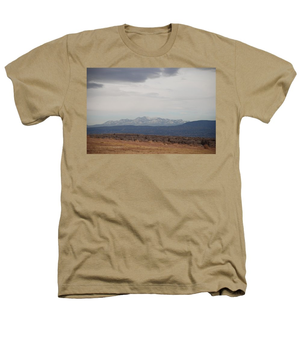 Mountains Heathers T-Shirt featuring the photograph Overcast On The Sandias by Rob Hans