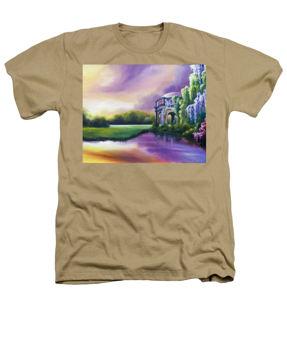 Marsh Heathers T-Shirt featuring the painting Palace Of The Arts by James Christopher Hill