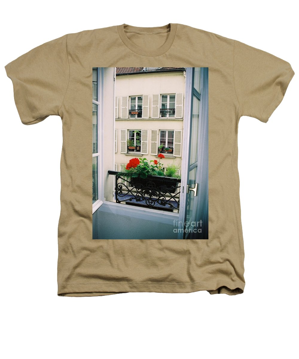 Window Heathers T-Shirt featuring the photograph Paris Day Windowbox by Nadine Rippelmeyer