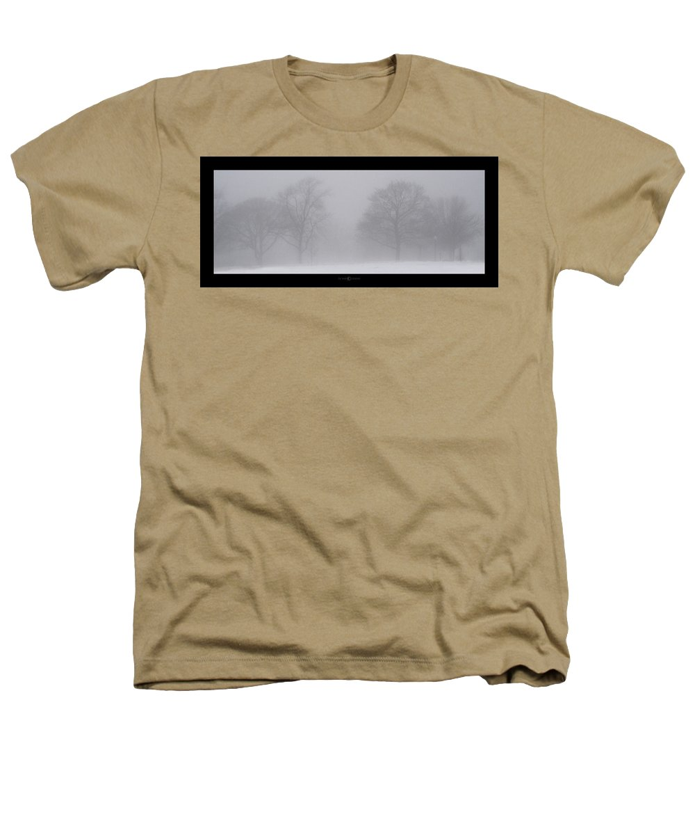 Fog Heathers T-Shirt featuring the photograph Park In Winter Fog by Tim Nyberg
