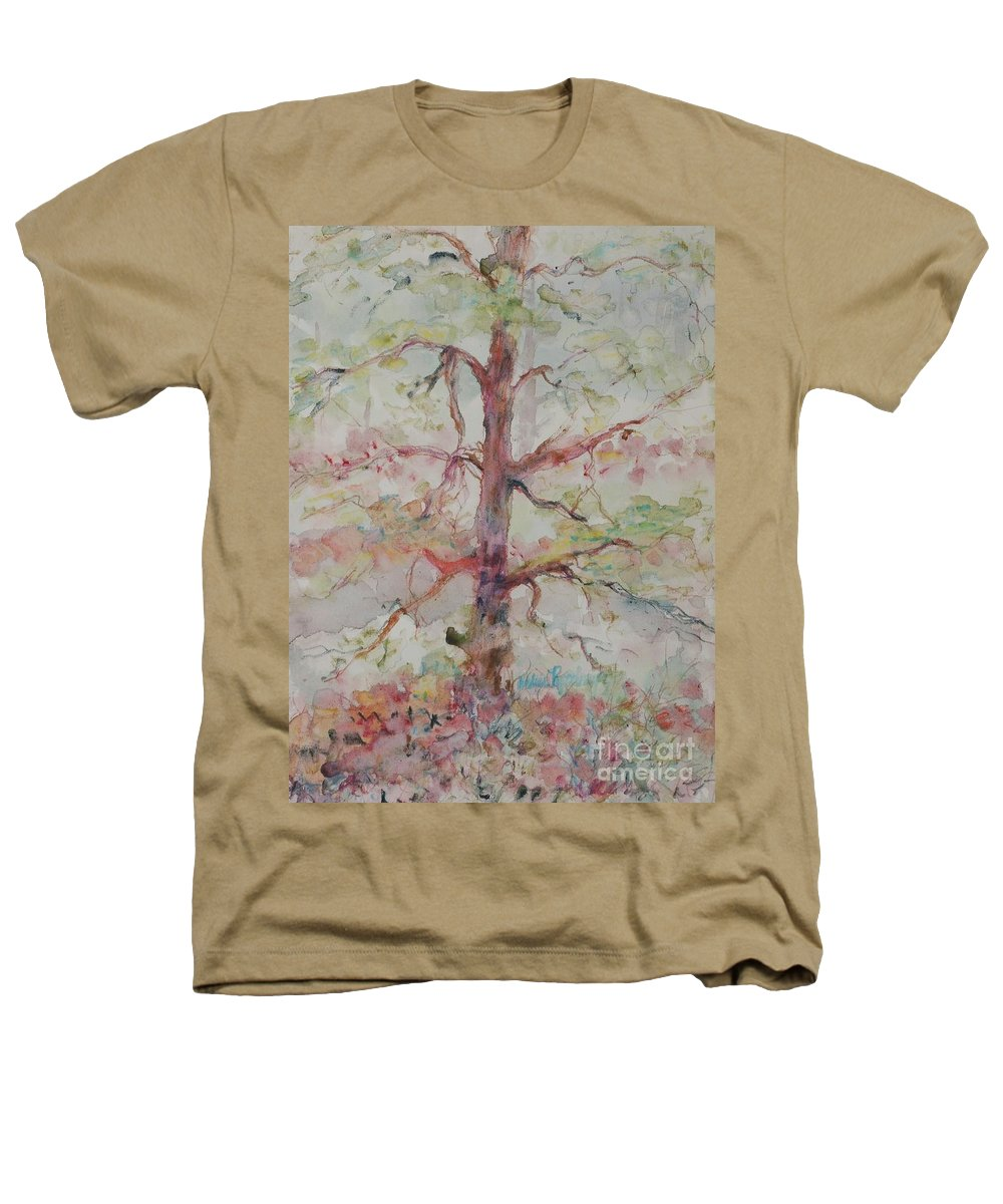 Forest Heathers T-Shirt featuring the painting Pastel Forest by Nadine Rippelmeyer