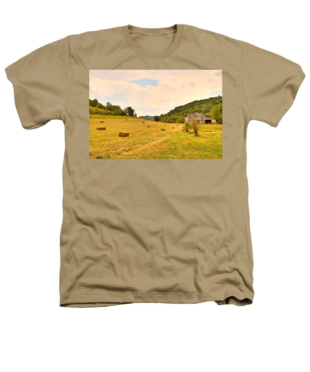 Pastorial Heathers T-Shirt featuring the photograph Pastorial Framland In Kentucky by Douglas Barnett