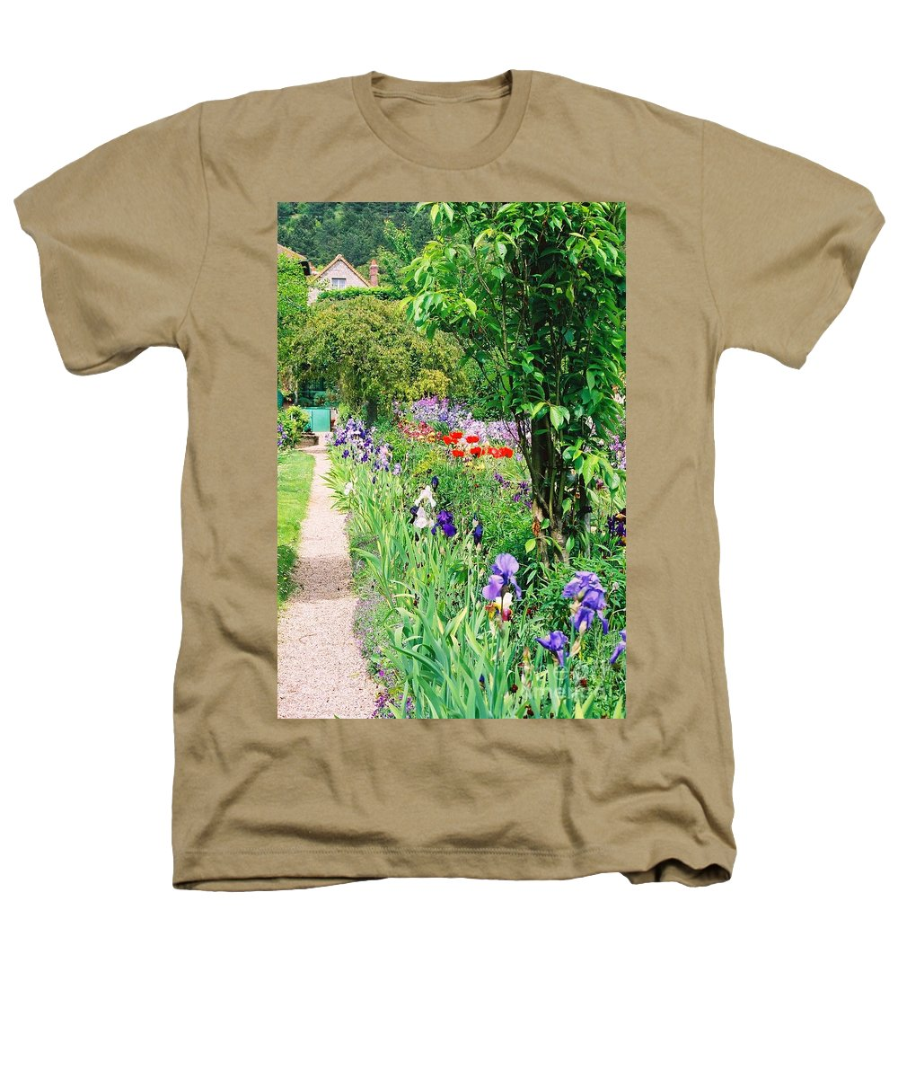 Claude Monet Heathers T-Shirt featuring the photograph Path To Monet's House by Nadine Rippelmeyer