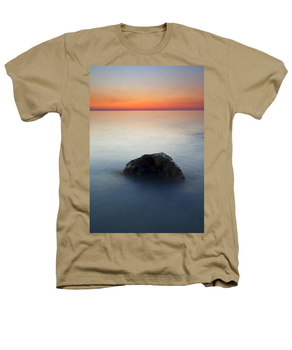 Rock Heathers T-Shirt featuring the photograph Peaceful Isolation by Mike Dawson