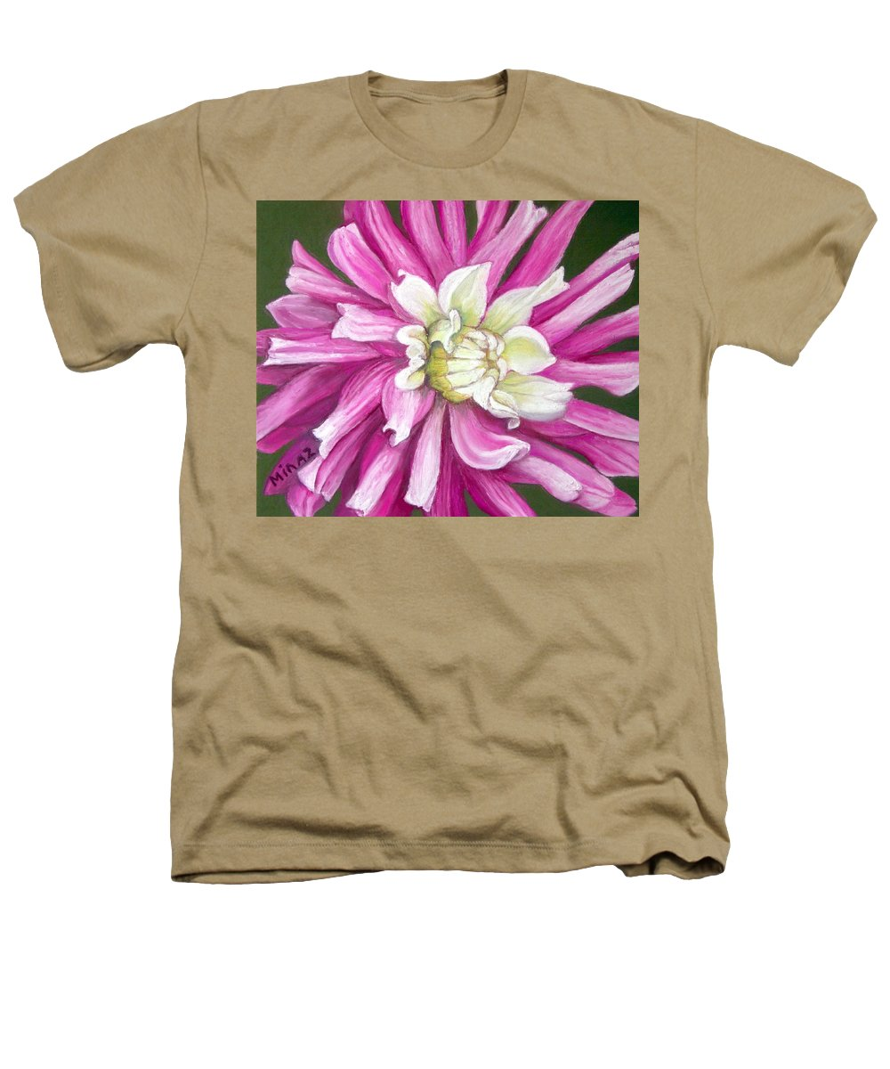 Floral Heathers T-Shirt featuring the painting Pink Petal Blast by Minaz Jantz