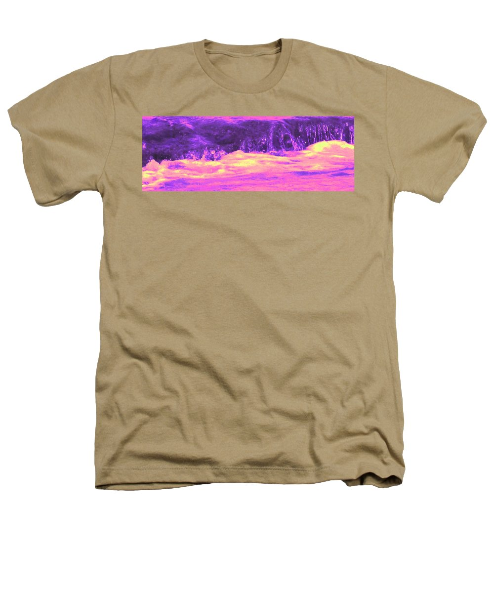 Seascape Heathers T-Shirt featuring the photograph Pink Tidal Pool by Ian MacDonald