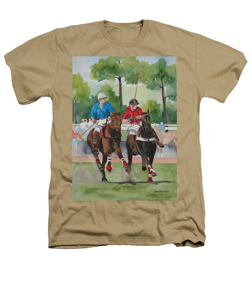 Polo Heathers T-Shirt featuring the painting Polo In The Afternoon 2 by Jean Blackmer