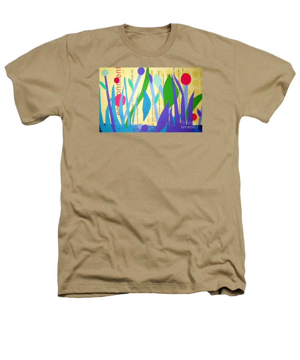 Landscape Heathers T-Shirt featuring the mixed media Pond Life by Debra Bretton Robinson