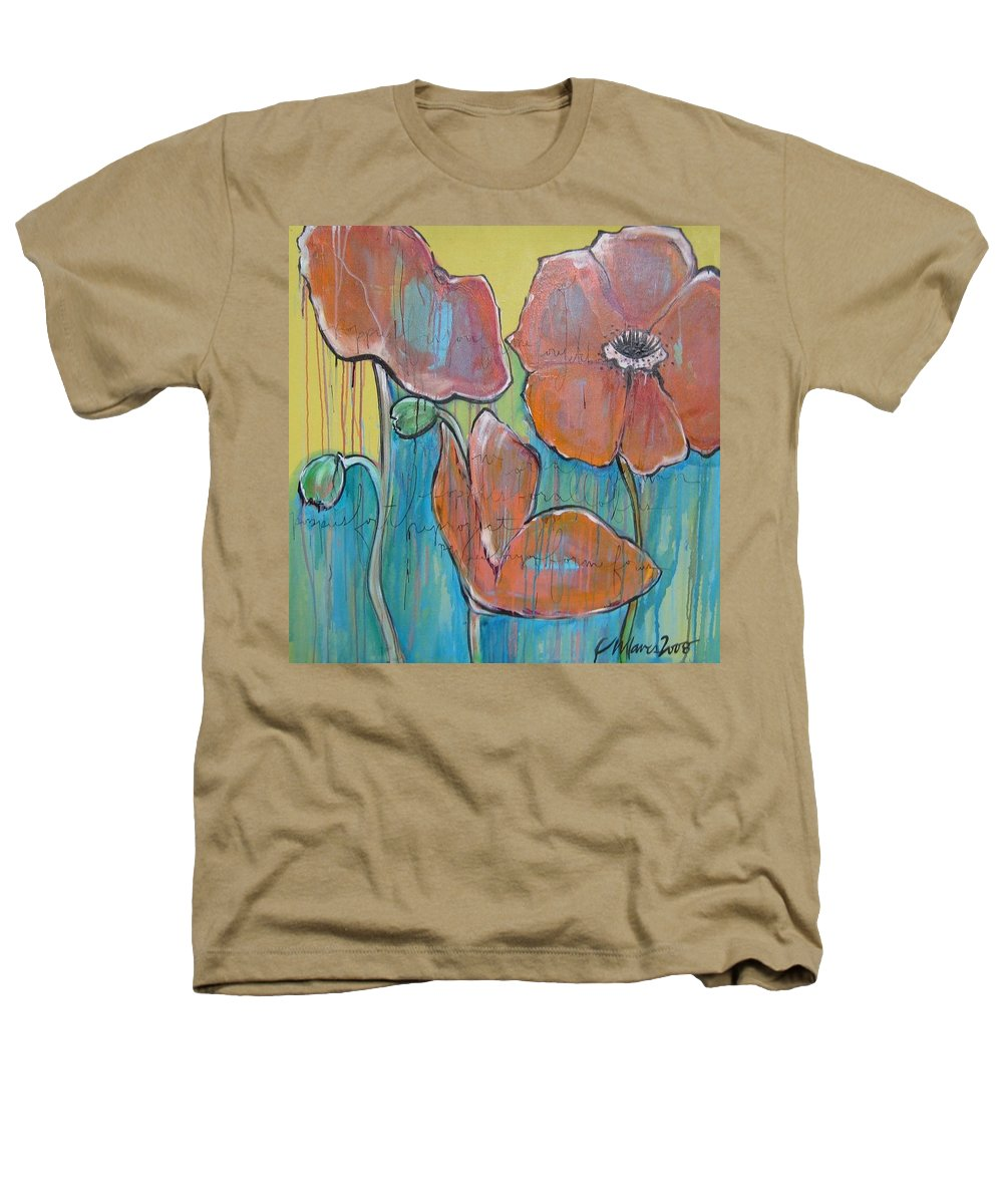Pop Art Heathers T-Shirt featuring the painting Poppies 3 by Laurie Maves ART