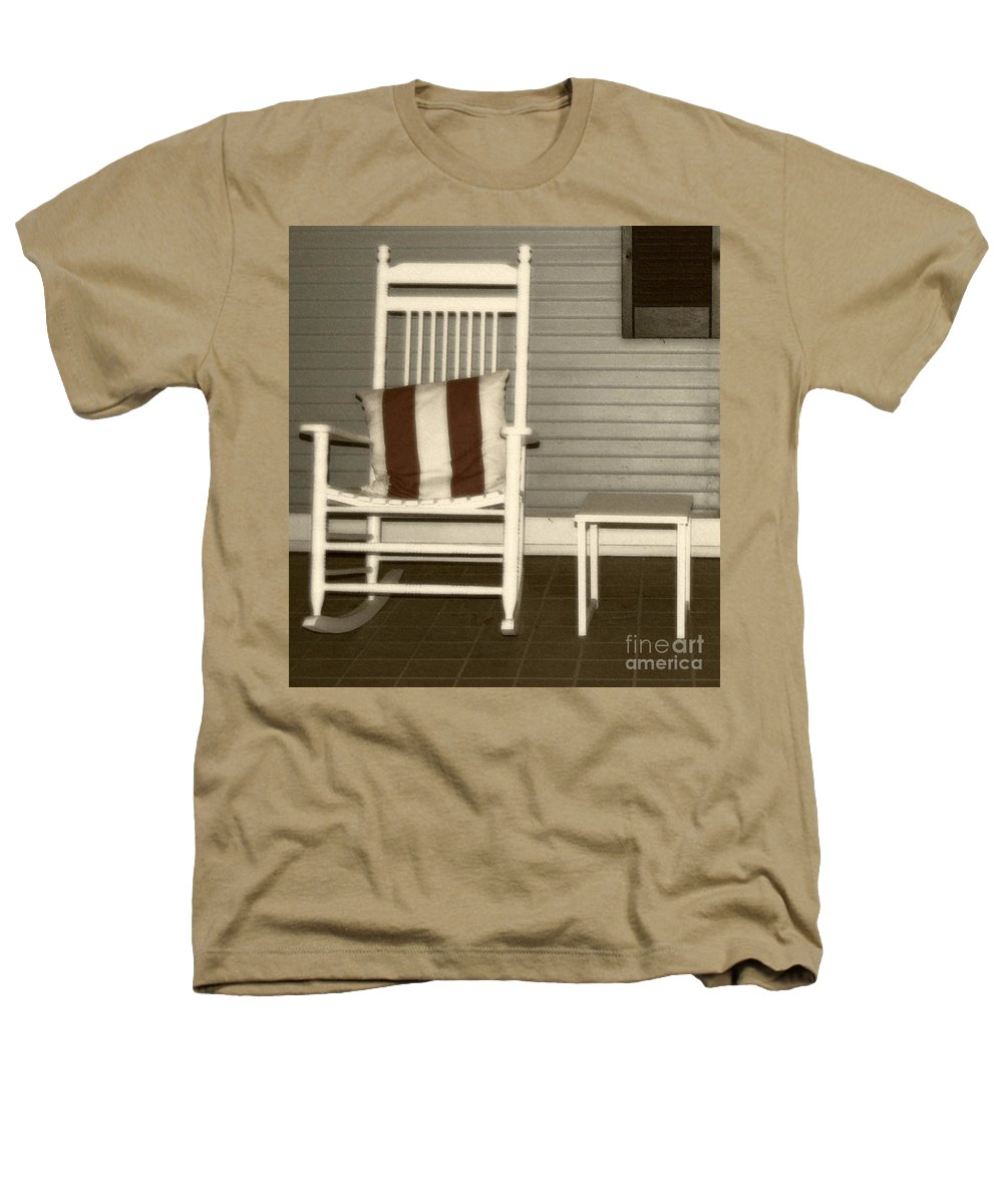 Rocking Chair Heathers T-Shirt featuring the photograph Porch Rocker by Debbi Granruth