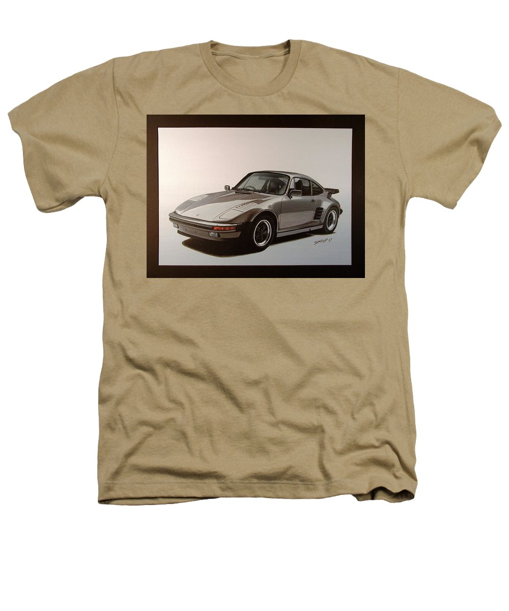 Car Heathers T-Shirt featuring the painting Porsche by Shawn Stallings
