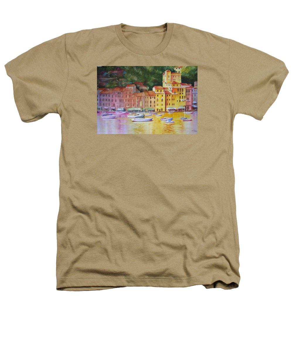 Italy Heathers T-Shirt featuring the painting Portofino Afternoon by Karen Stark