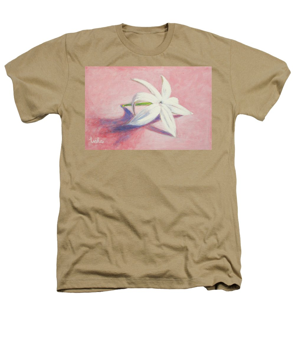 Portrait Heathers T-Shirt featuring the painting Portrait Of The Jasmine Flower by Usha Shantharam