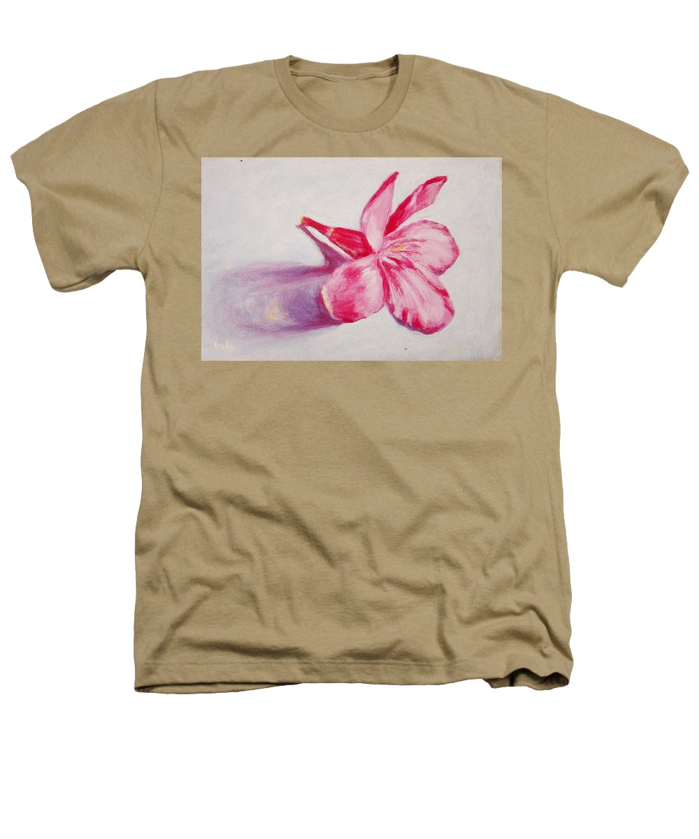 Genneri Heathers T-Shirt featuring the painting Portrait Of The Kaneri Flower. Oleander by Usha Shantharam