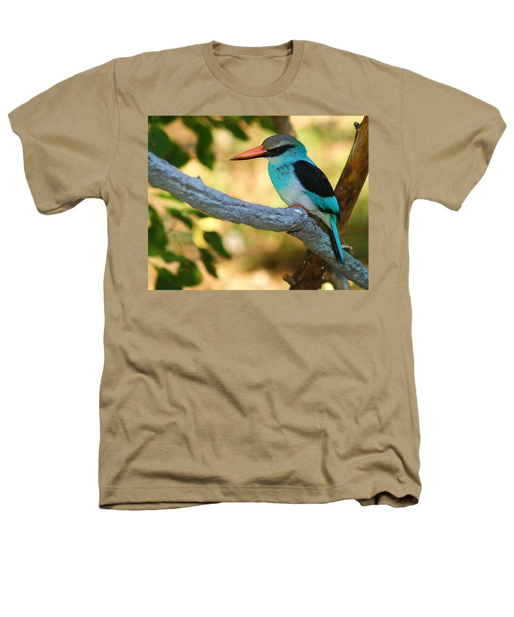 Kingfisher Heathers T-Shirt featuring the photograph Pretty Bird by Gaby Swanson