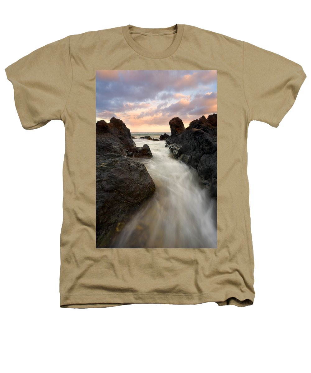 Sunrise Heathers T-Shirt featuring the photograph Primordial Tides by Mike Dawson