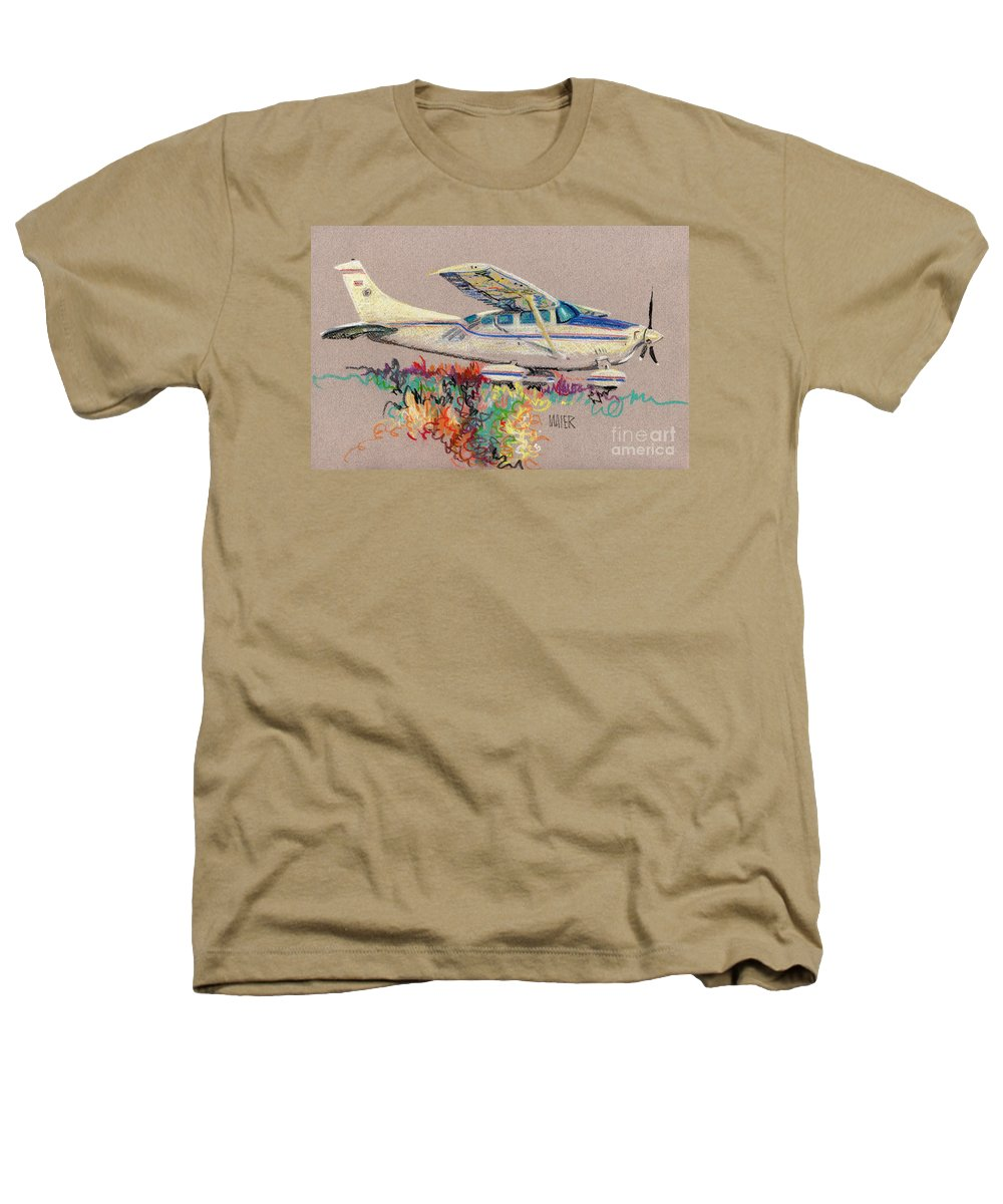 Small Plane Heathers T-Shirt featuring the drawing Private Plane by Donald Maier