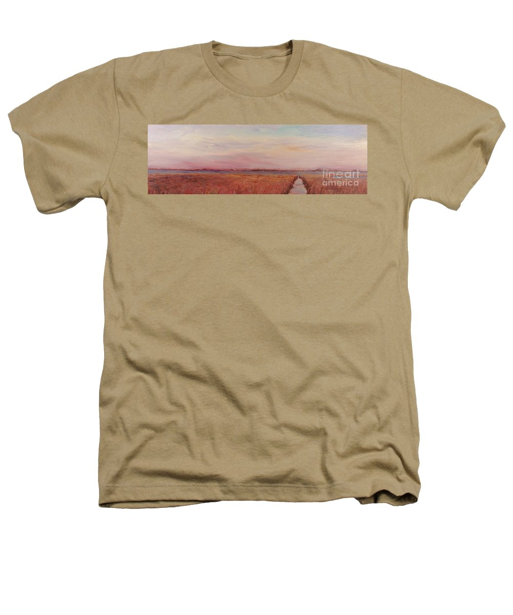 Landscape Heathers T-Shirt featuring the painting Provence Camargue by Nadine Rippelmeyer