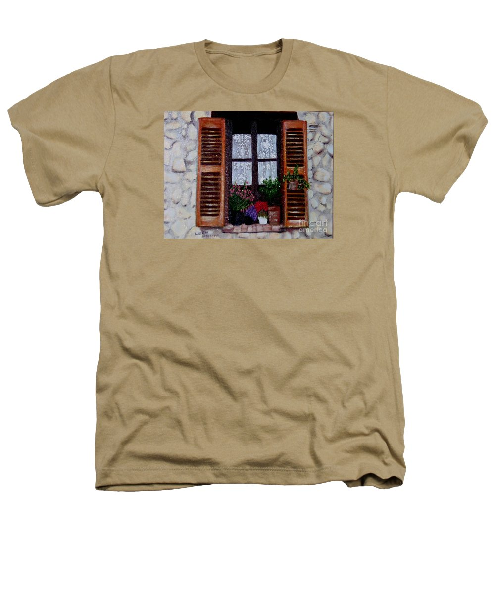 Provence Heathers T-Shirt featuring the painting Provence Morning by Laurie Morgan