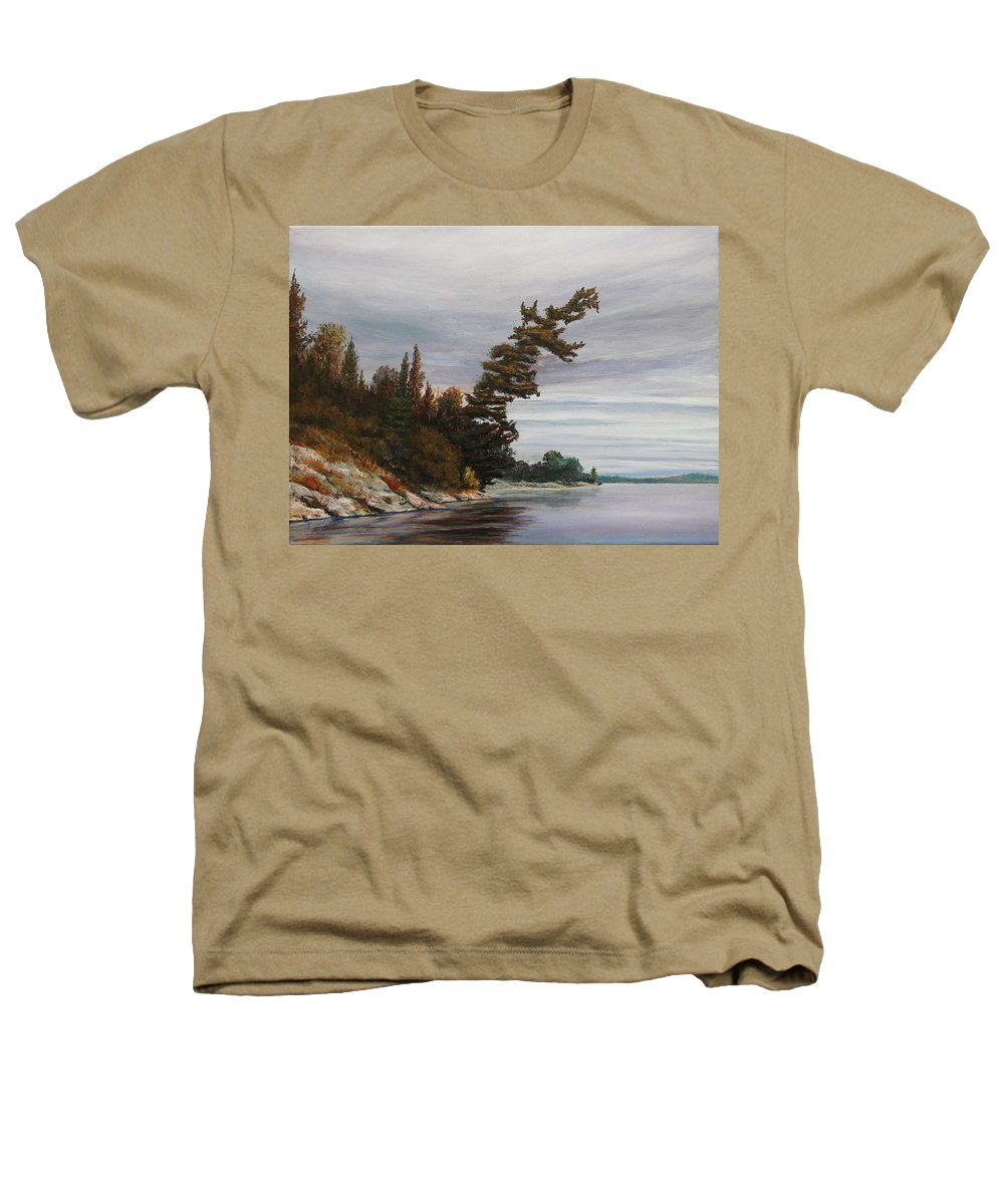 Landscape Heathers T-Shirt featuring the painting Ptarmigan Bay by Ruth Kamenev