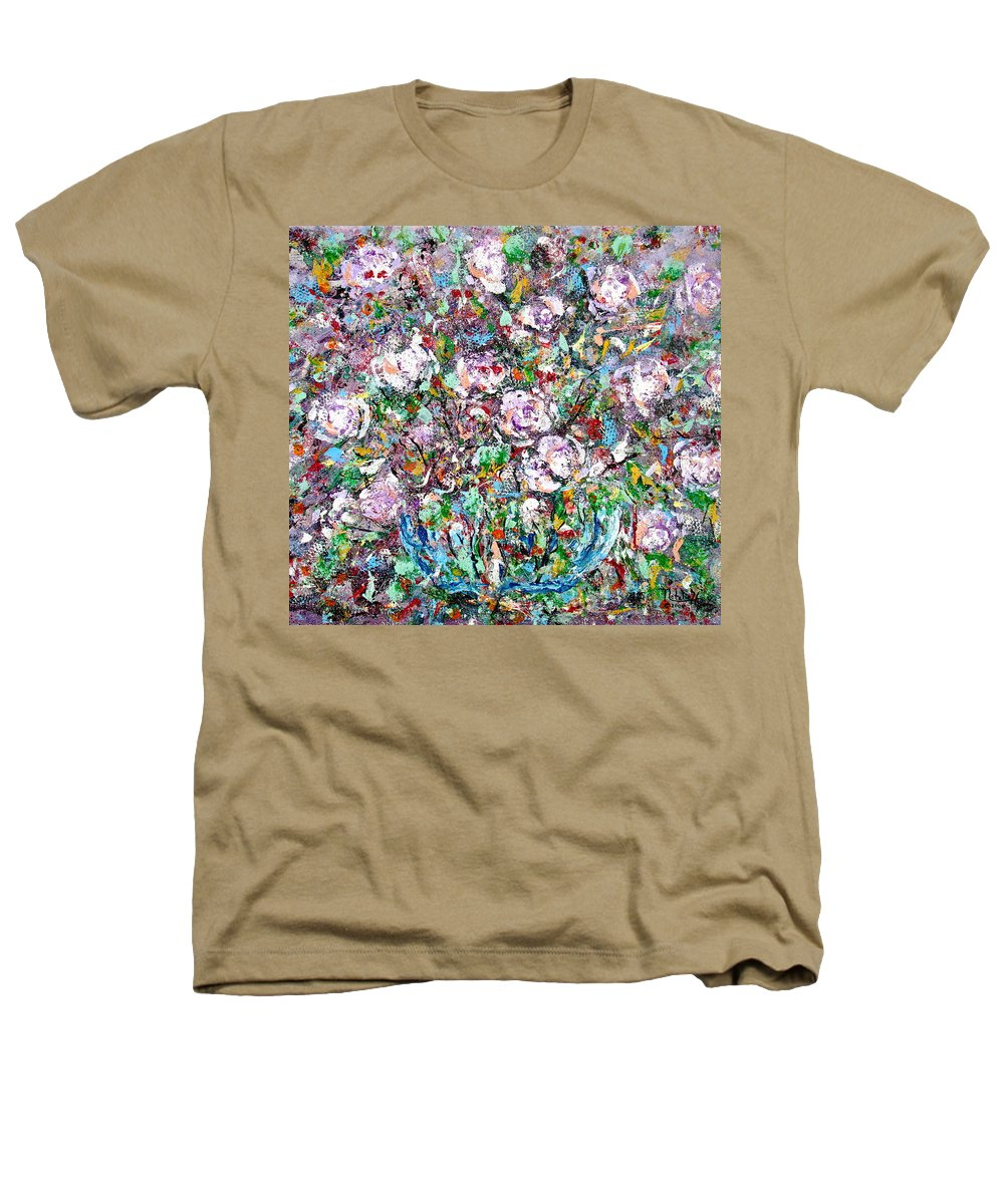 Abstract Heathers T-Shirt featuring the painting Purple Passions by Natalie Holland