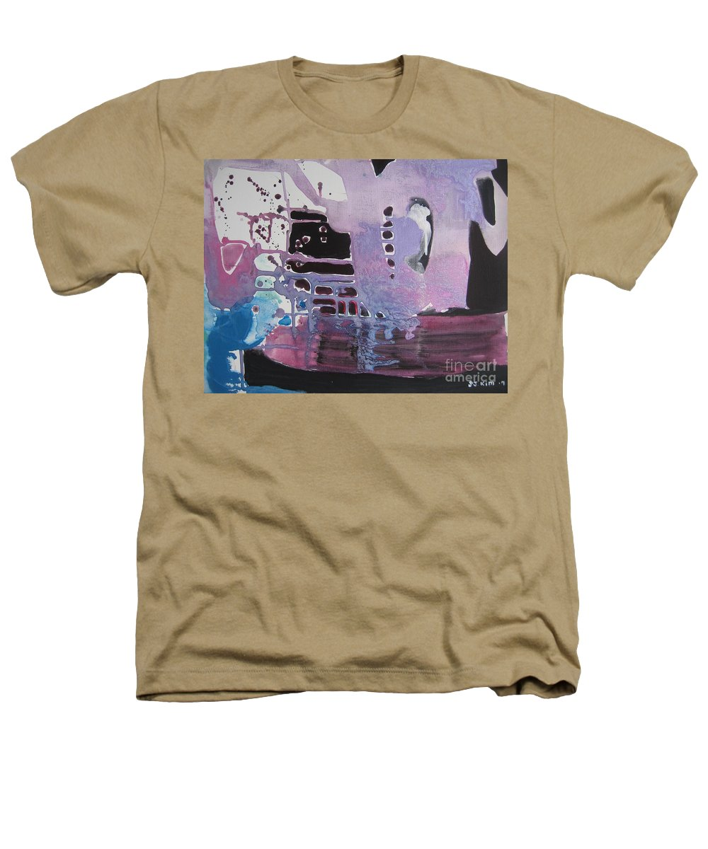 Abstract Paintings Heathers T-Shirt featuring the painting Purple Seascape by Seon-Jeong Kim