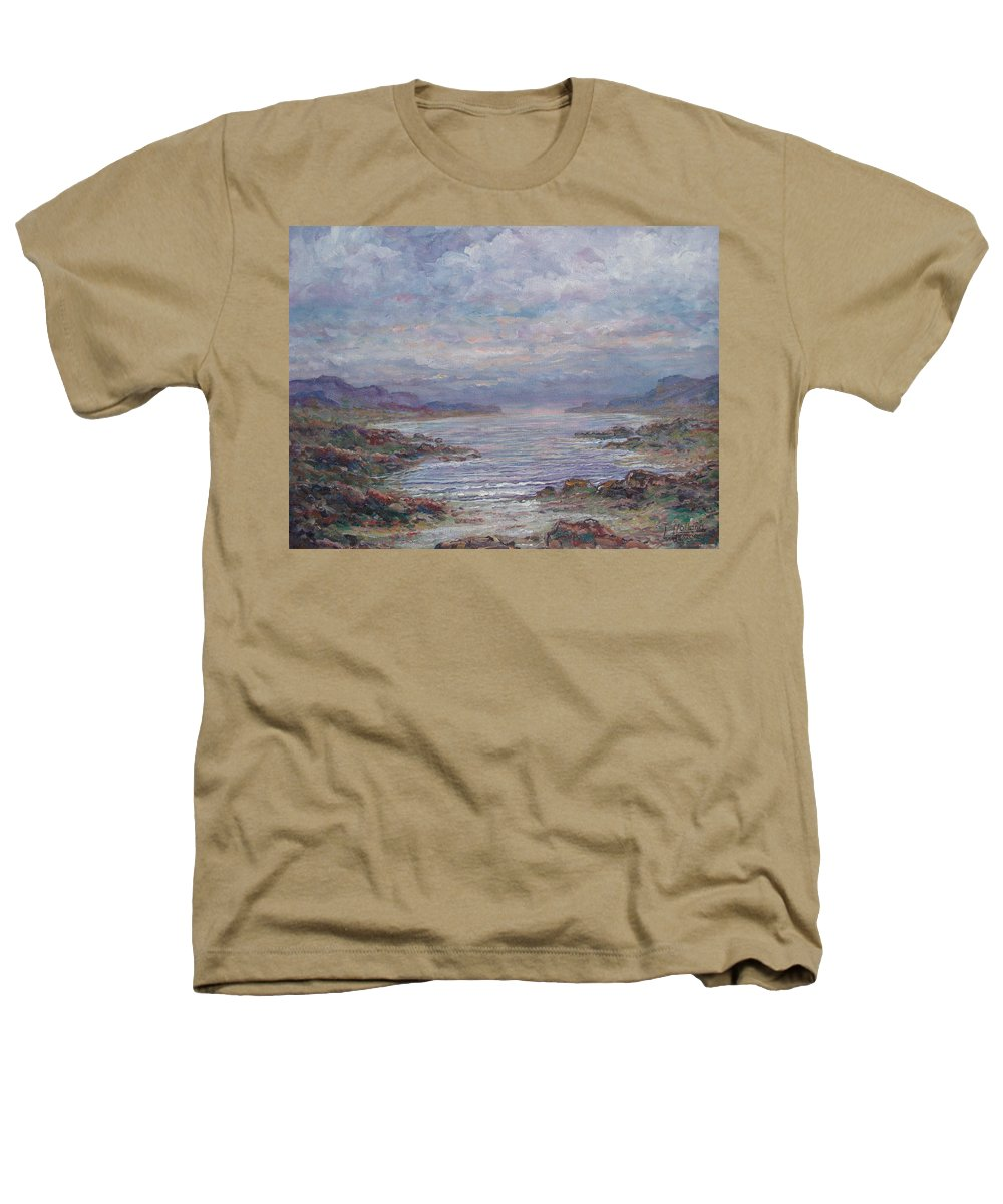 Painting Heathers T-Shirt featuring the painting Quiet Bay. by Leonard Holland