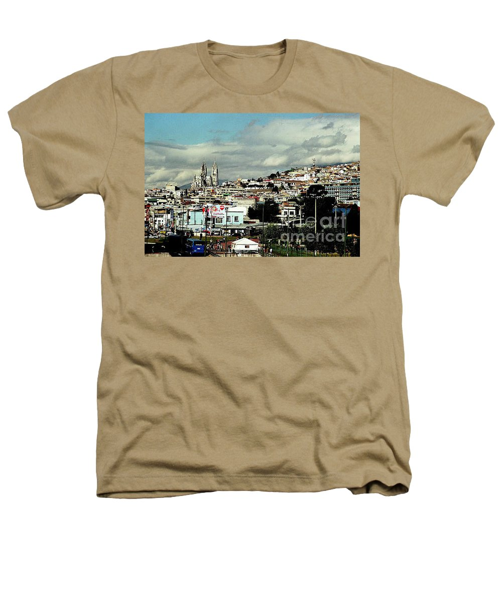Ecuador Heathers T-Shirt featuring the photograph Quito by Kathy McClure