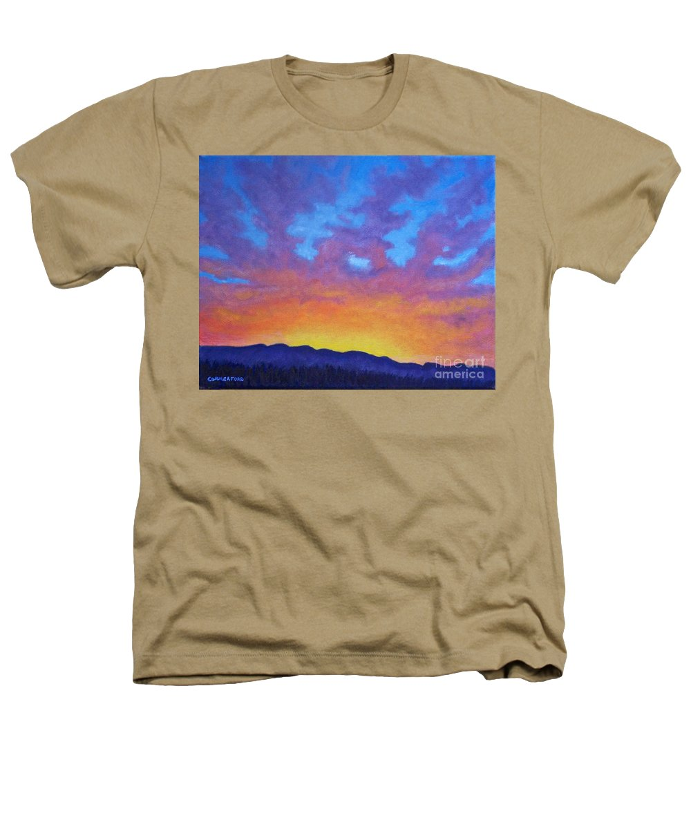 Landscape Heathers T-Shirt featuring the painting Radiance by Brian Commerford