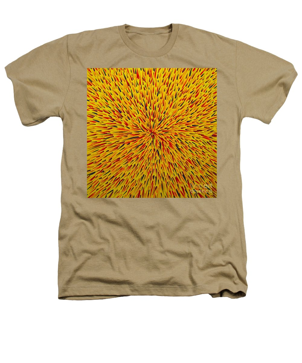 Abstract Heathers T-Shirt featuring the painting Radiation Yellow by Dean Triolo