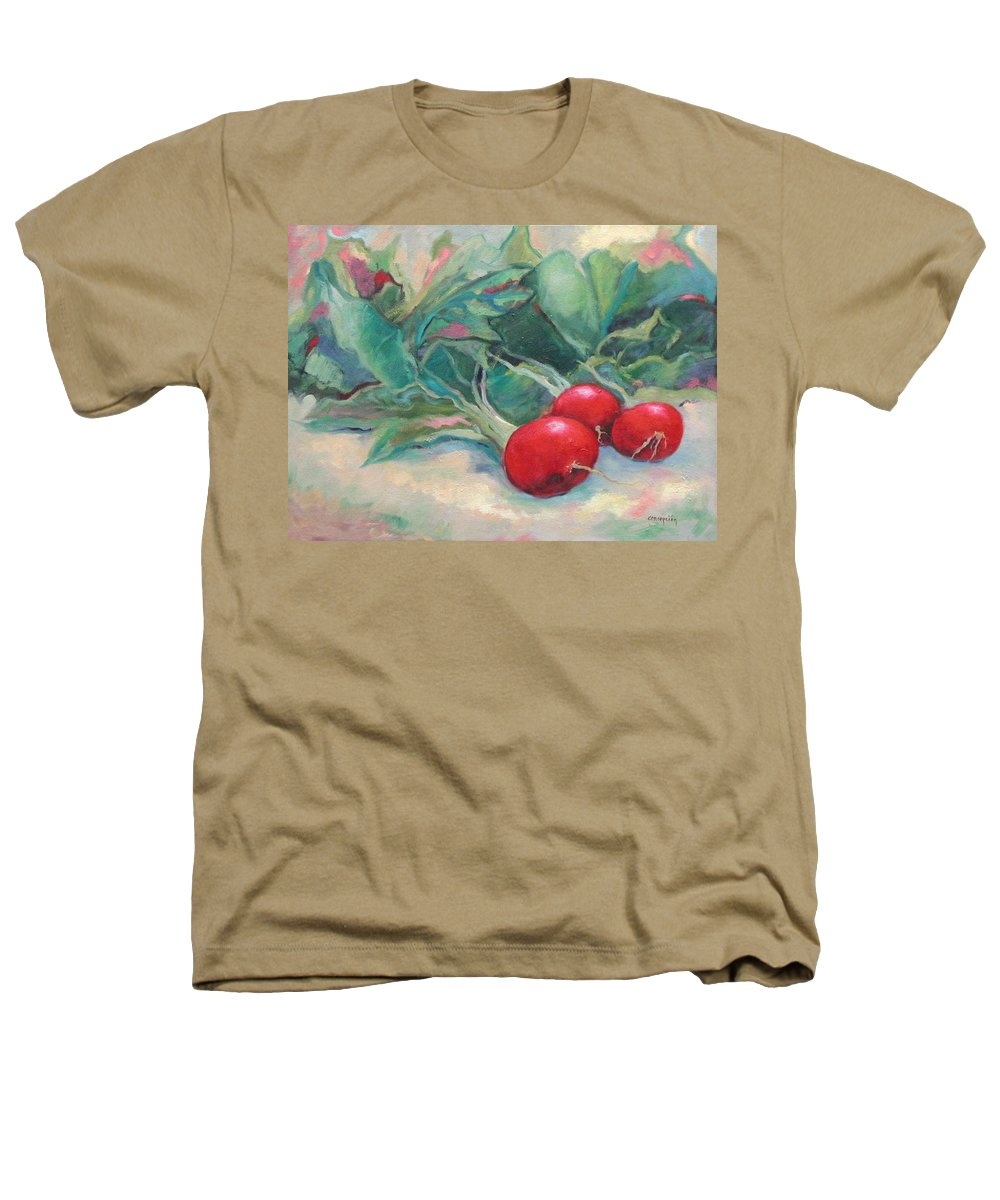Radishes Heathers T-Shirt featuring the painting Radishes by Ginger Concepcion