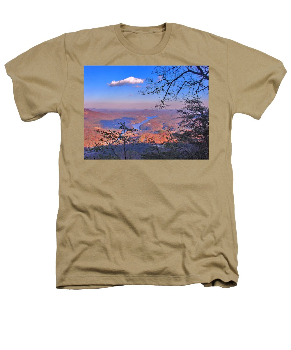 Landscape Heathers T-Shirt featuring the photograph Reaching For A Cloud by Steve Karol