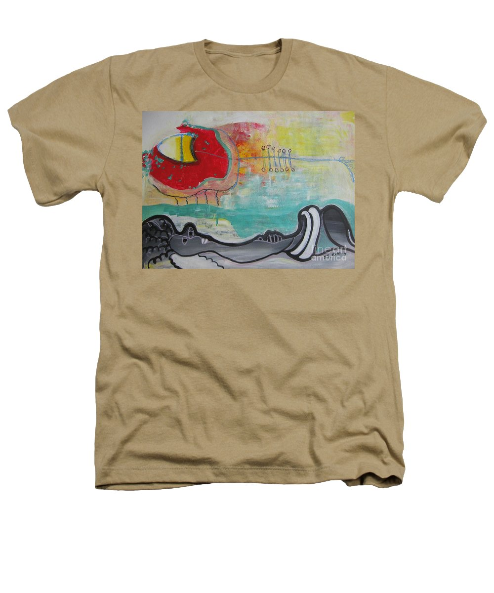 Red Paintings Heathers T-Shirt featuring the painting Read My Mind1 by Seon-Jeong Kim