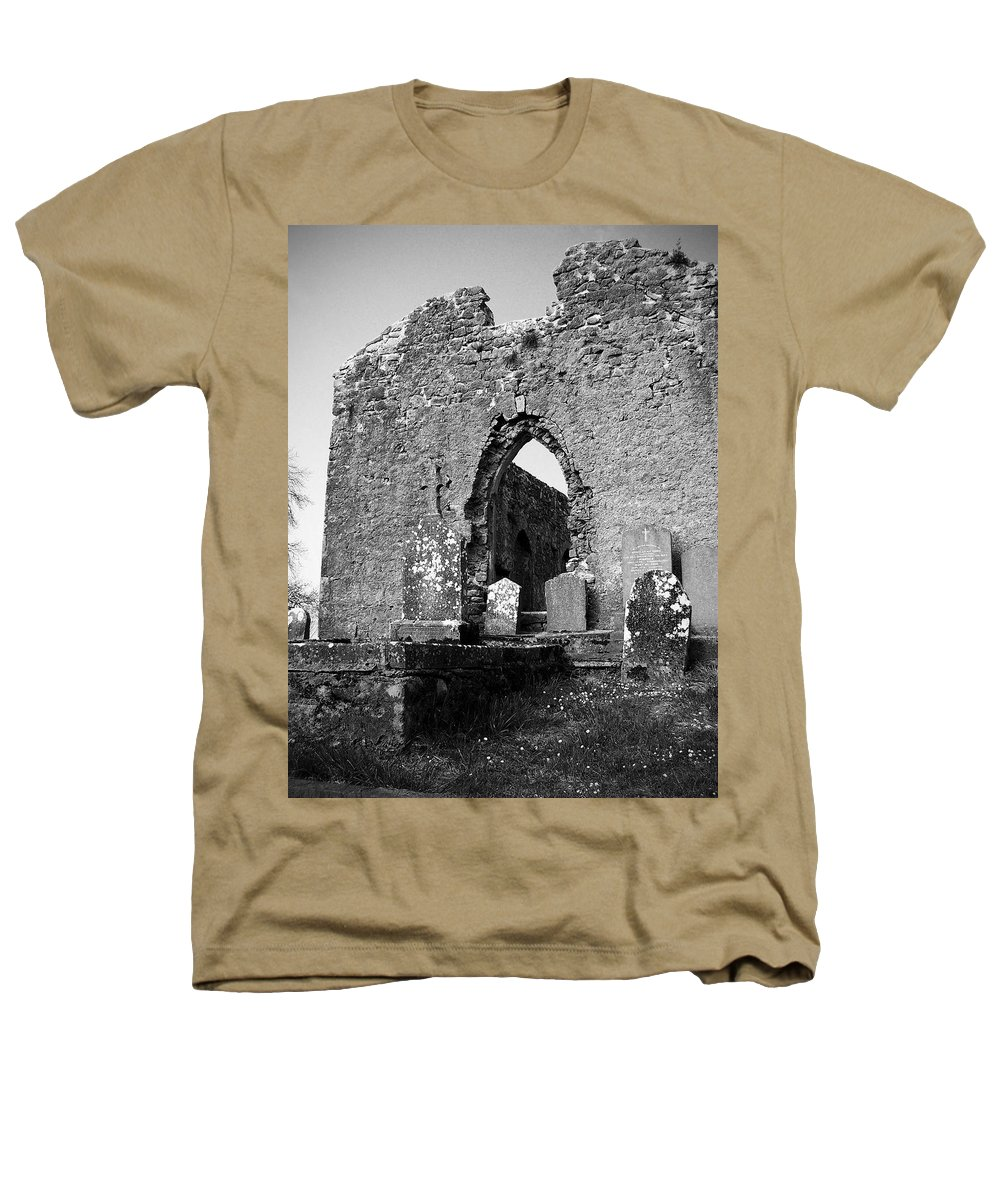 Ireland Heathers T-Shirt featuring the photograph Rear Entrance Fuerty Church Roscommon Ireland by Teresa Mucha