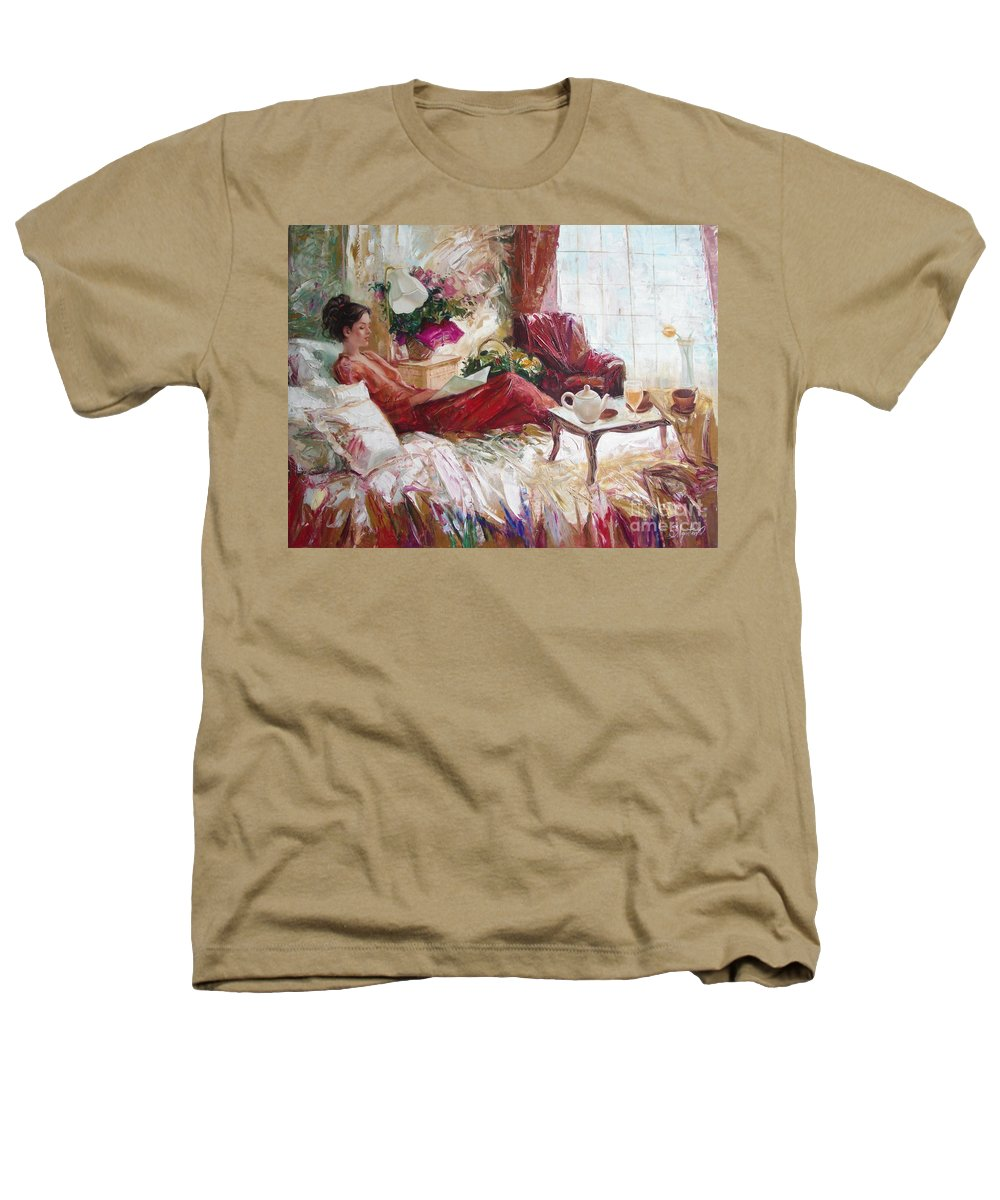 Art Heathers T-Shirt featuring the painting Recent News by Sergey Ignatenko