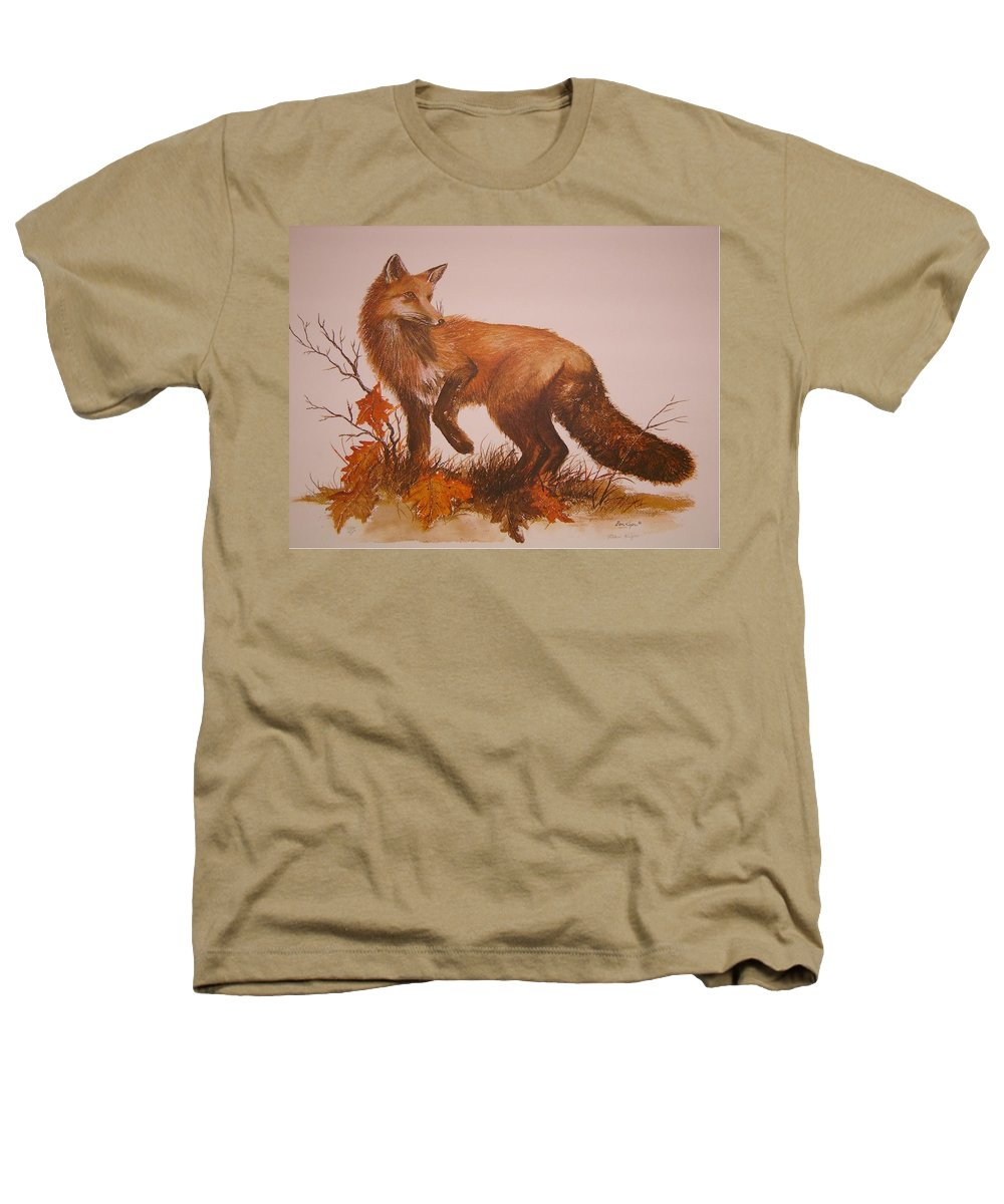 Nature Heathers T-Shirt featuring the painting Red Fox by Ben Kiger