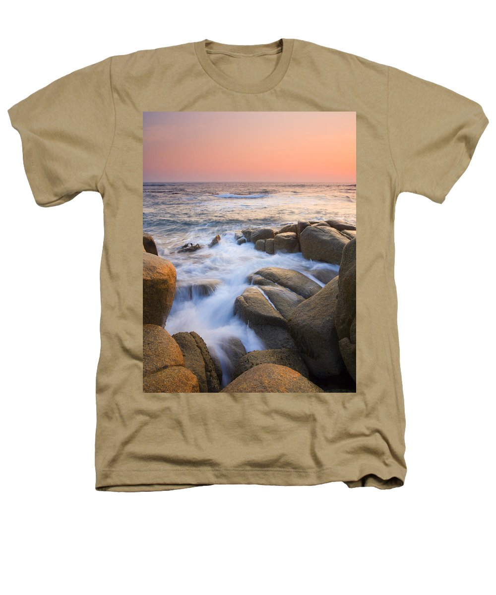 Sunrise Heathers T-Shirt featuring the photograph Red Sky At Morning by Mike Dawson