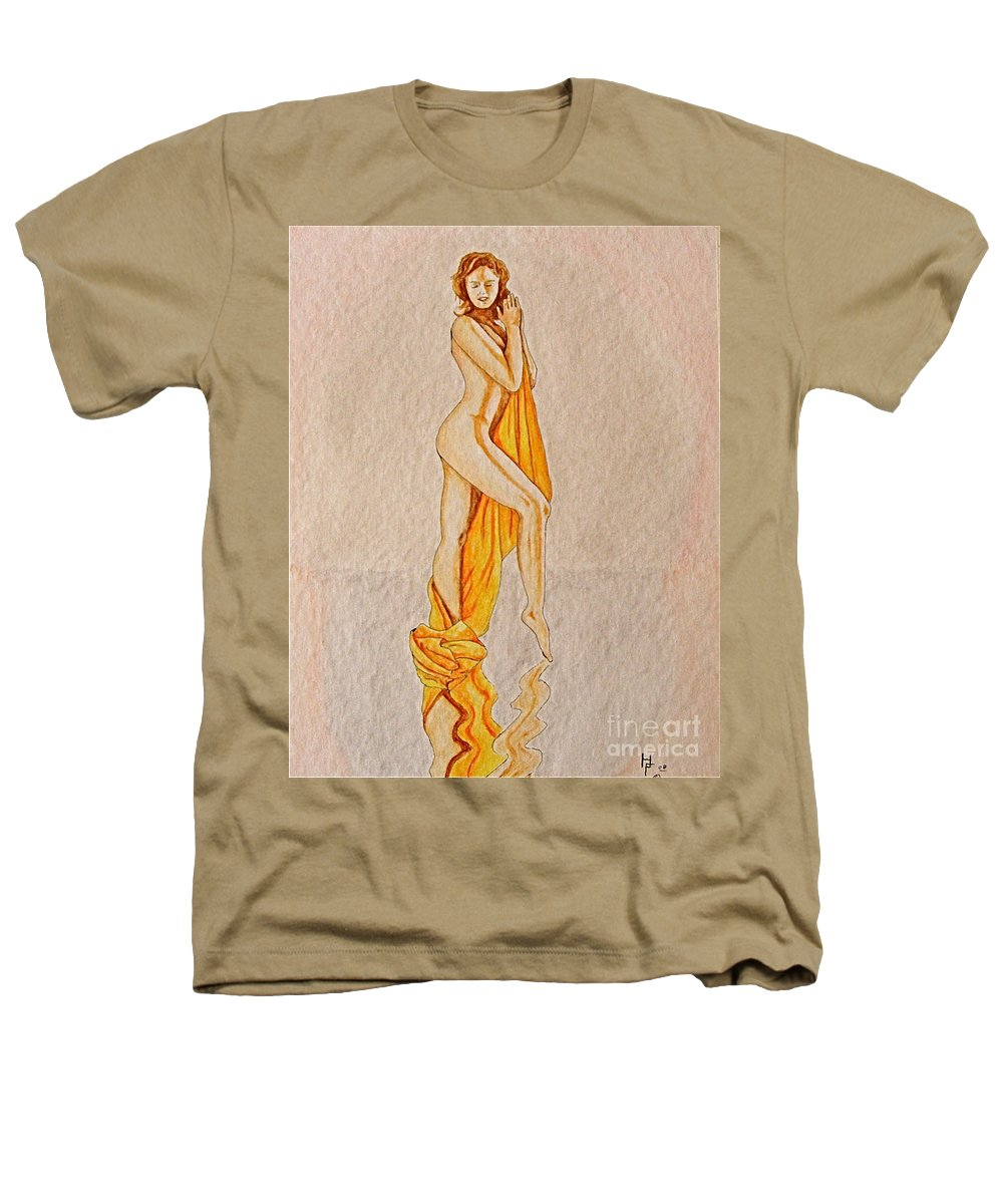 Nude Heathers T-Shirt featuring the painting Reflection by Herschel Fall