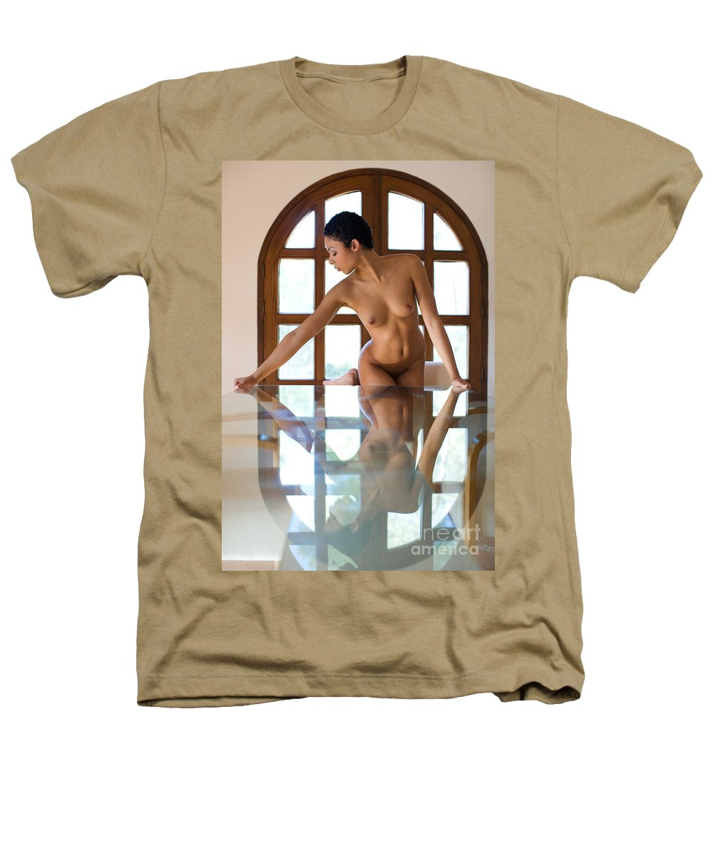 Sensual Heathers T-Shirt featuring the photograph Reflection Time Again by Olivier De Rycke