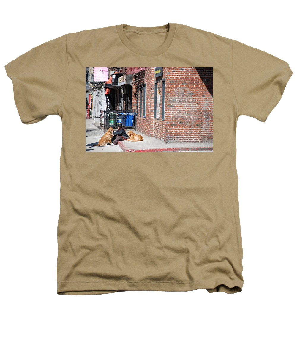 Girl Heathers T-Shirt featuring the photograph Resting On The Corner by Rob Hans
