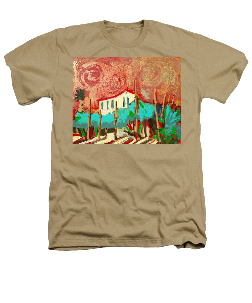 Tuscany Heathers T-Shirt featuring the painting Ricordare by Kurt Hausmann