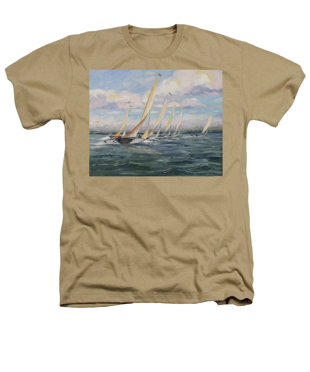 Riding Waves Heathers T-Shirt featuring the painting Riding The Waves by Jay Johnson