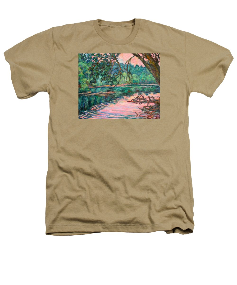 Riverview Park Heathers T-Shirt featuring the painting Riverview At Dusk by Kendall Kessler